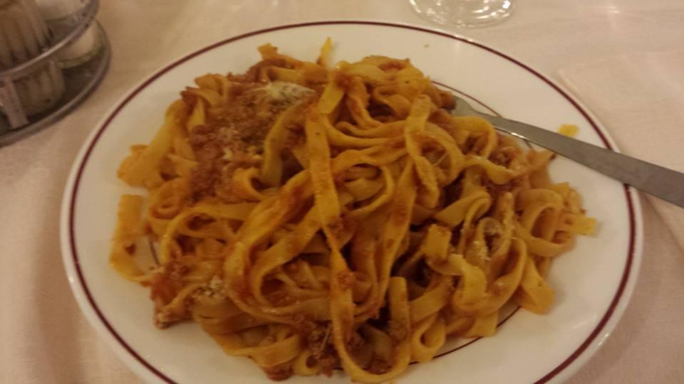Last night's dinner - fettucinni bolognese