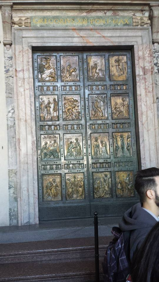These doors are opened only during Jubilee years. The Pope will open them next during Christmas 2025