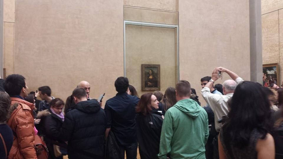 The Mona Lisa and far too many people