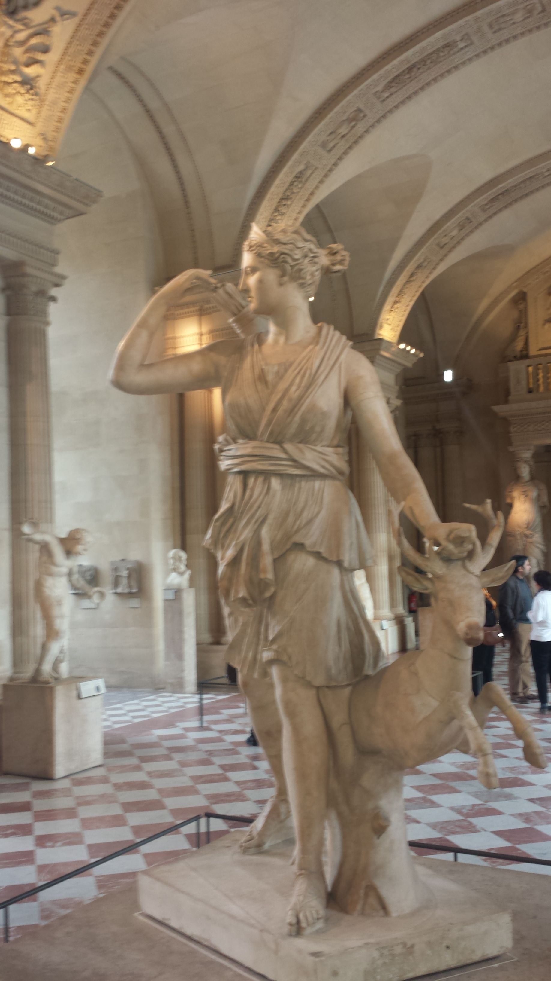 Diana of the Hunt. There's a replica of this statue in the hall of mirrors in Versailles