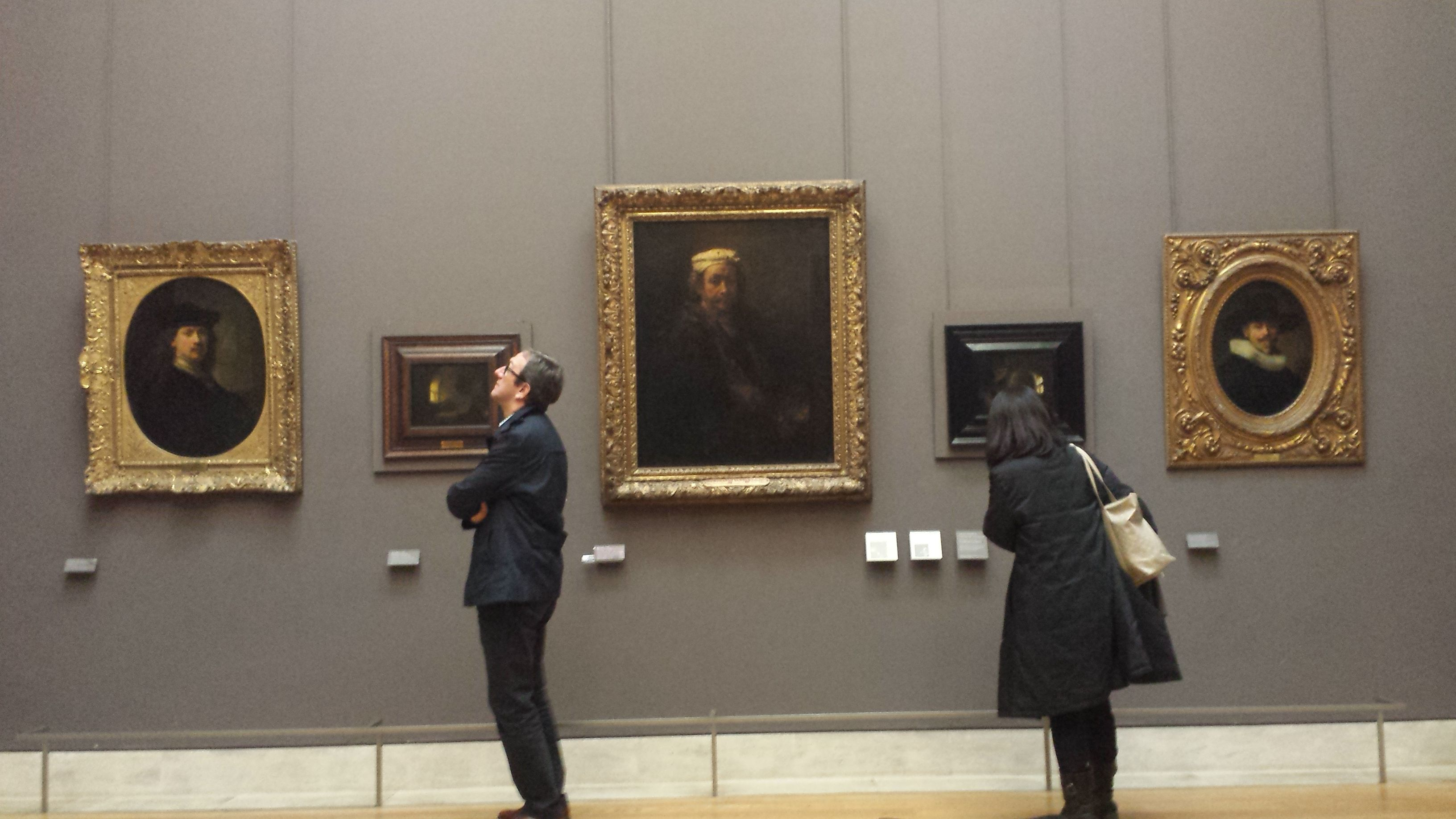 One of the last rooms we visited was full of Rembrandts, who was apparently very fond of selfies somehow