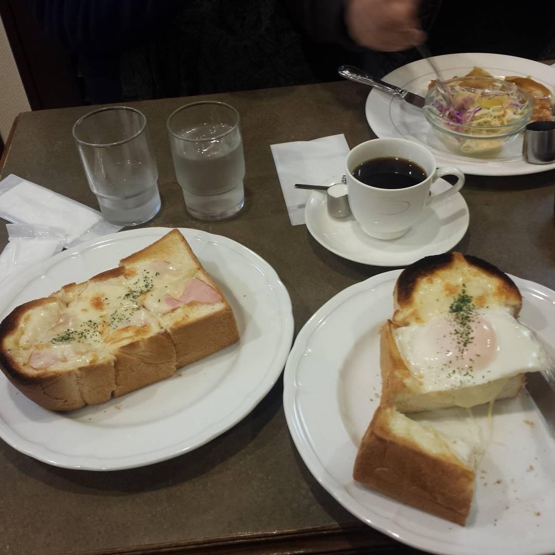 Huge toast for breakfast