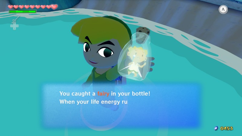 Posted in MiiVerse's The Legend of Zelda: The Wind Waker HD: Look at that fairy's face. Putting fairies in bottles so you can use them later is basically slavery