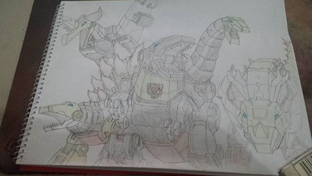 Dinobots roll out! #sketchdaily