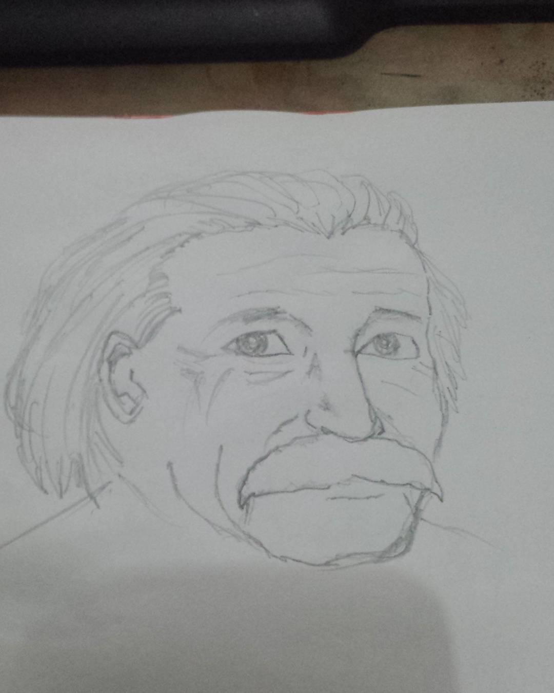 Happy birthday Albert Einstein! #sketchdaily