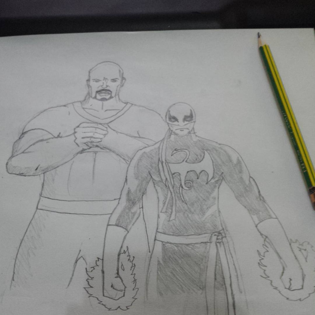Power Man and Iron Fist #sketchdaily