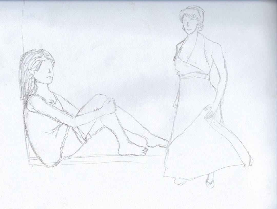 Some quick figure drawing practice #sketchdaily