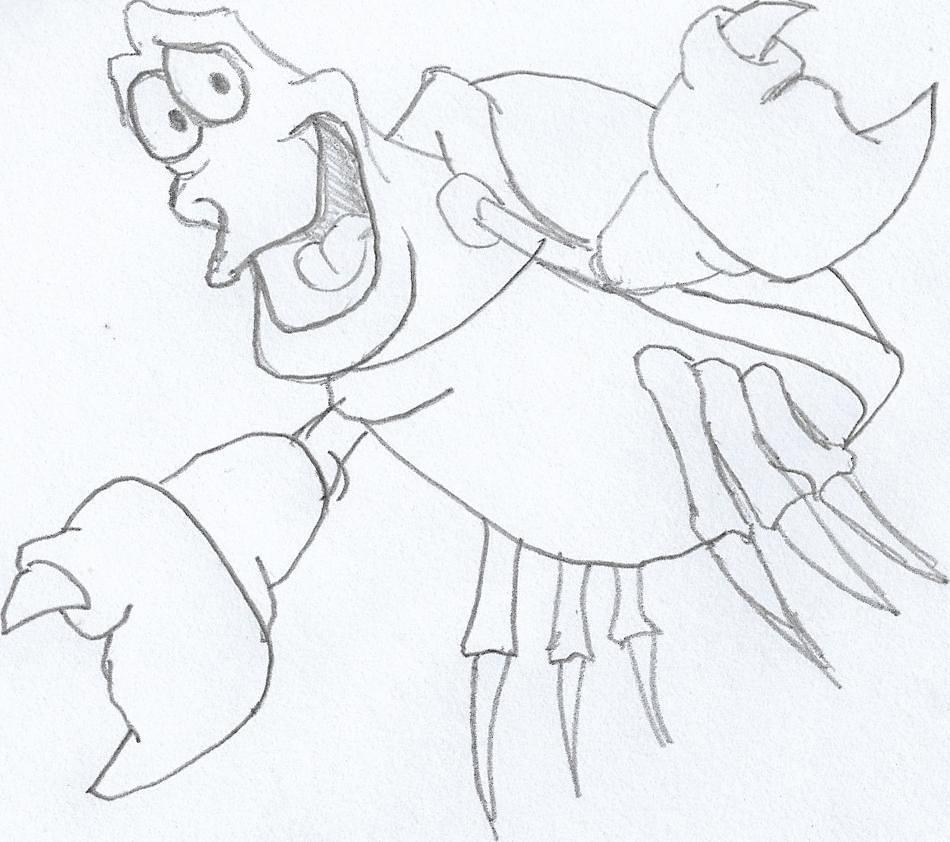 Feeling a bit crabby today so just a quick Disney character #sketchdaily