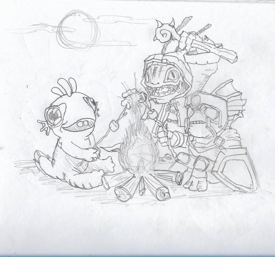 Murlocs #sketchdaily #hearthstone @barayantan @emidevil