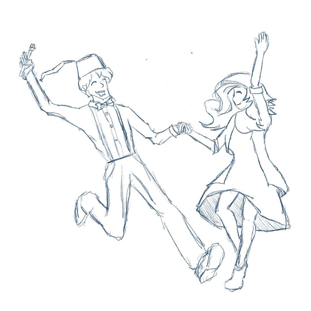 Dance like nobody's watching #sketchdaily