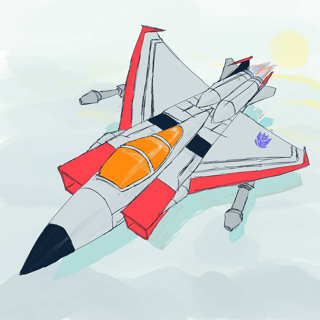 The F15 Eagle, a perfectly normal earth jet #sketchdaily
