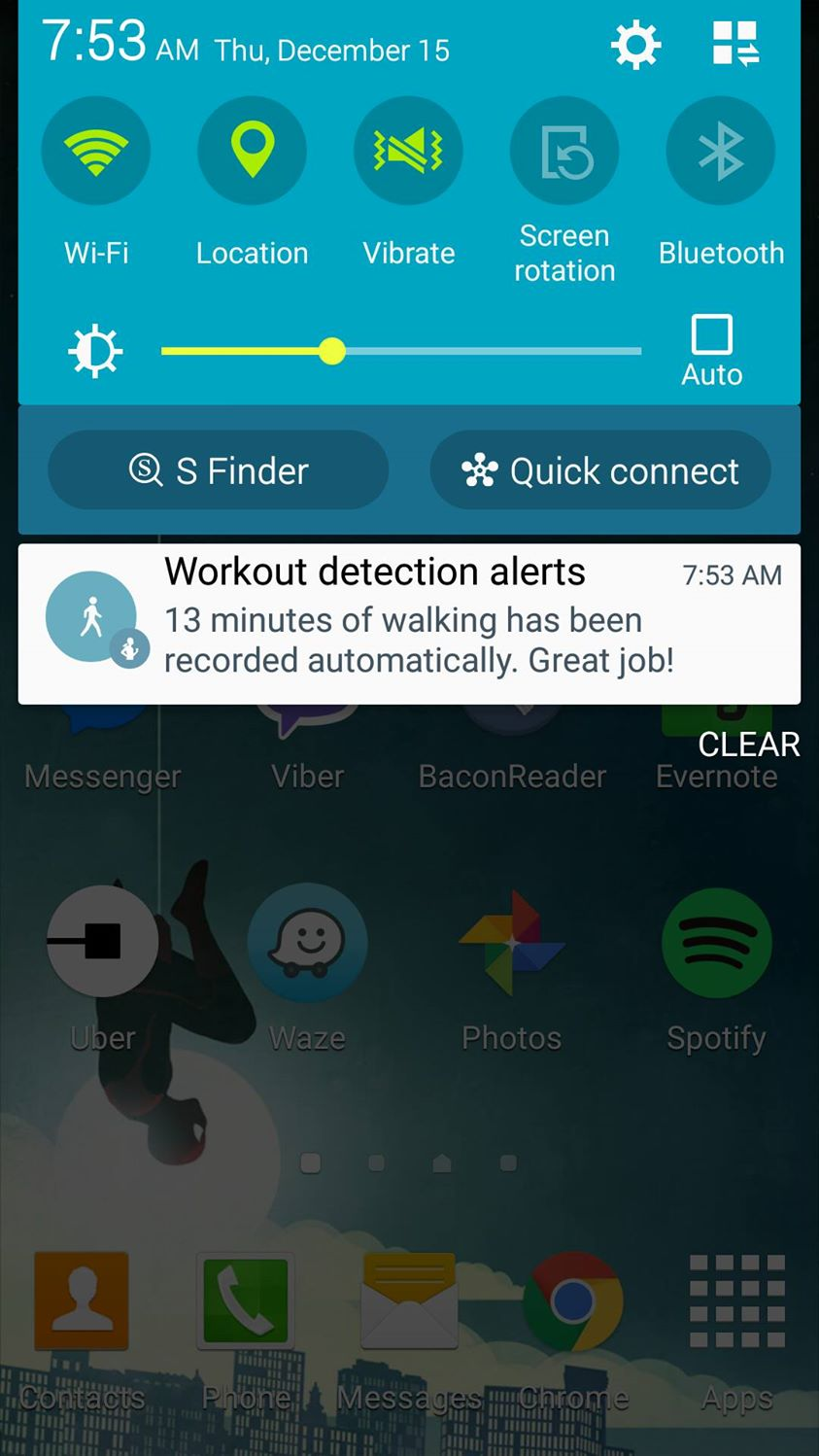 I always get annoyed at the poor subject verb agreement of this notif