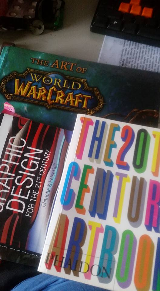 Some more art books came in while I slept, apparently the last delivery was incomplete. Thanks again Timothy Tang!
