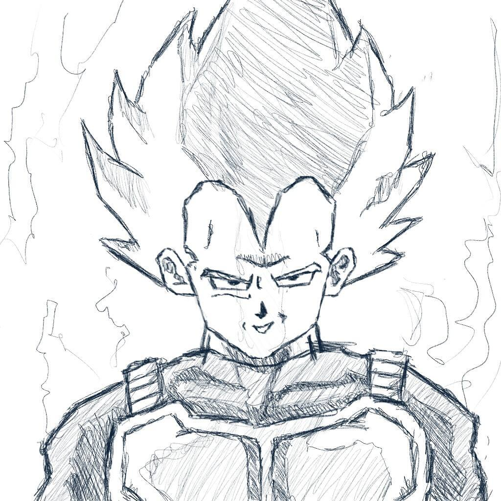 """""""Believe me, my heart is exceptionally pure... pure evil!"""" #sketchdaily #dragonballz"""