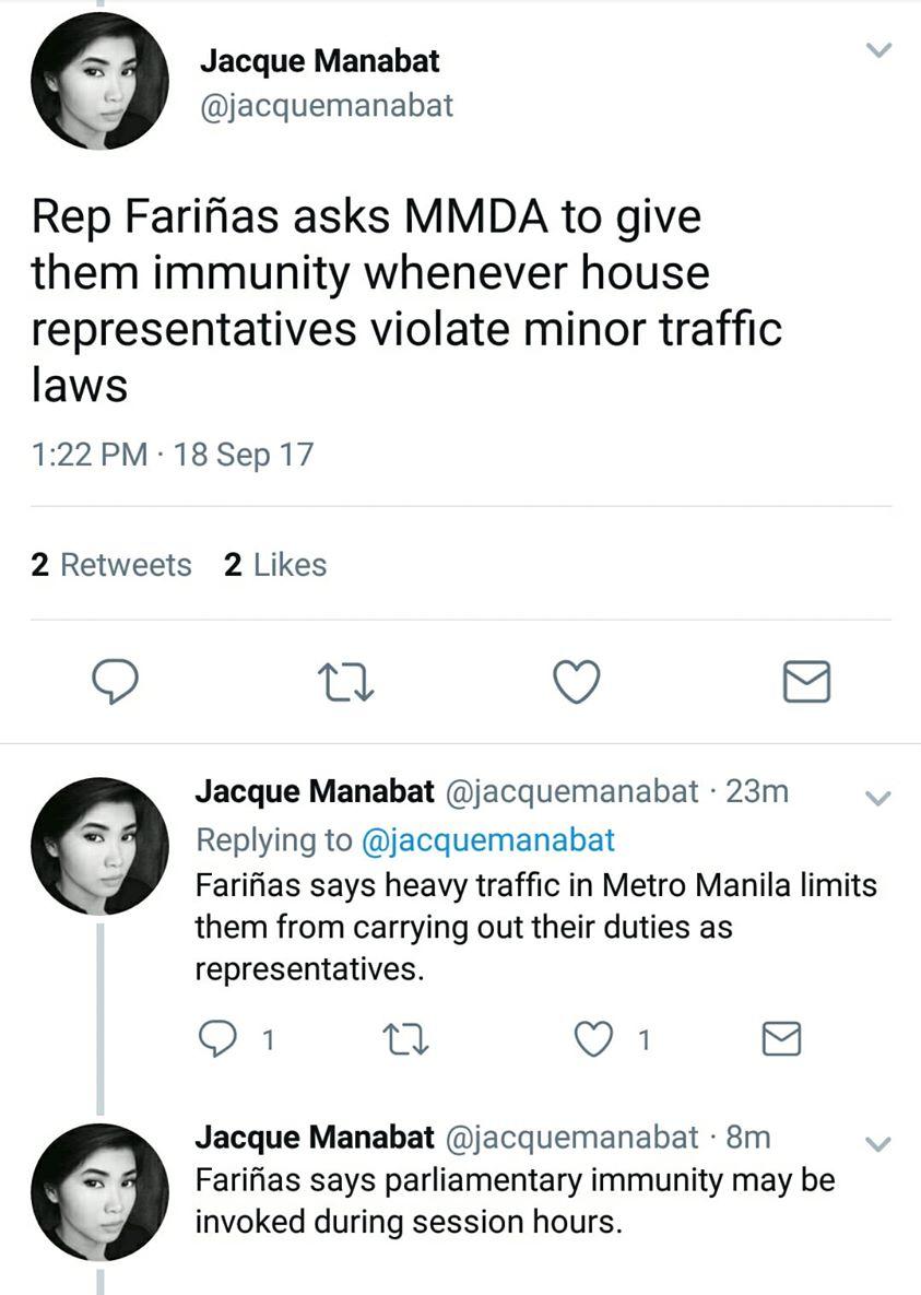 Ang traffic sa metro manila! Gawan nyo naman ng solusyon! Congress: