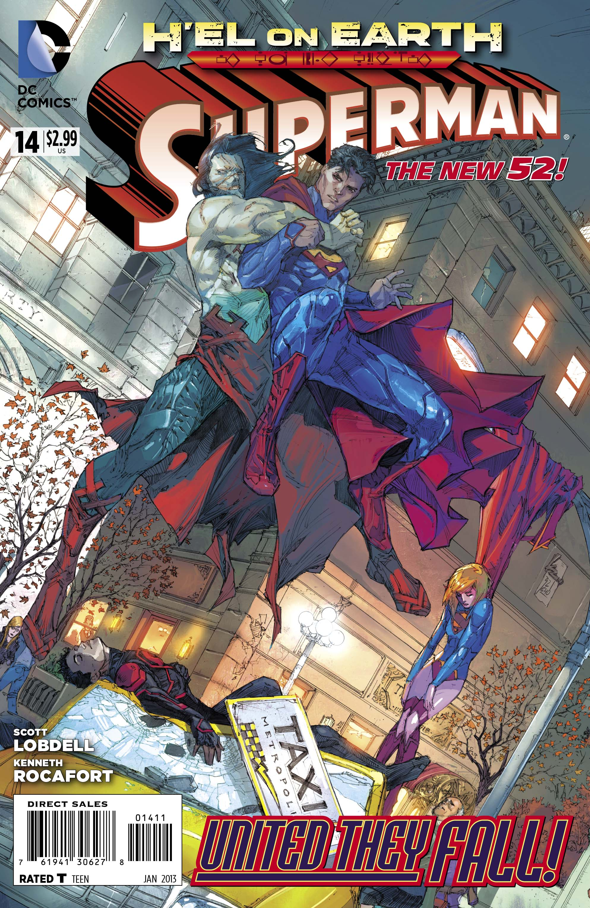 Superman (New 52) #14, cover art by Kenneth Rocafort