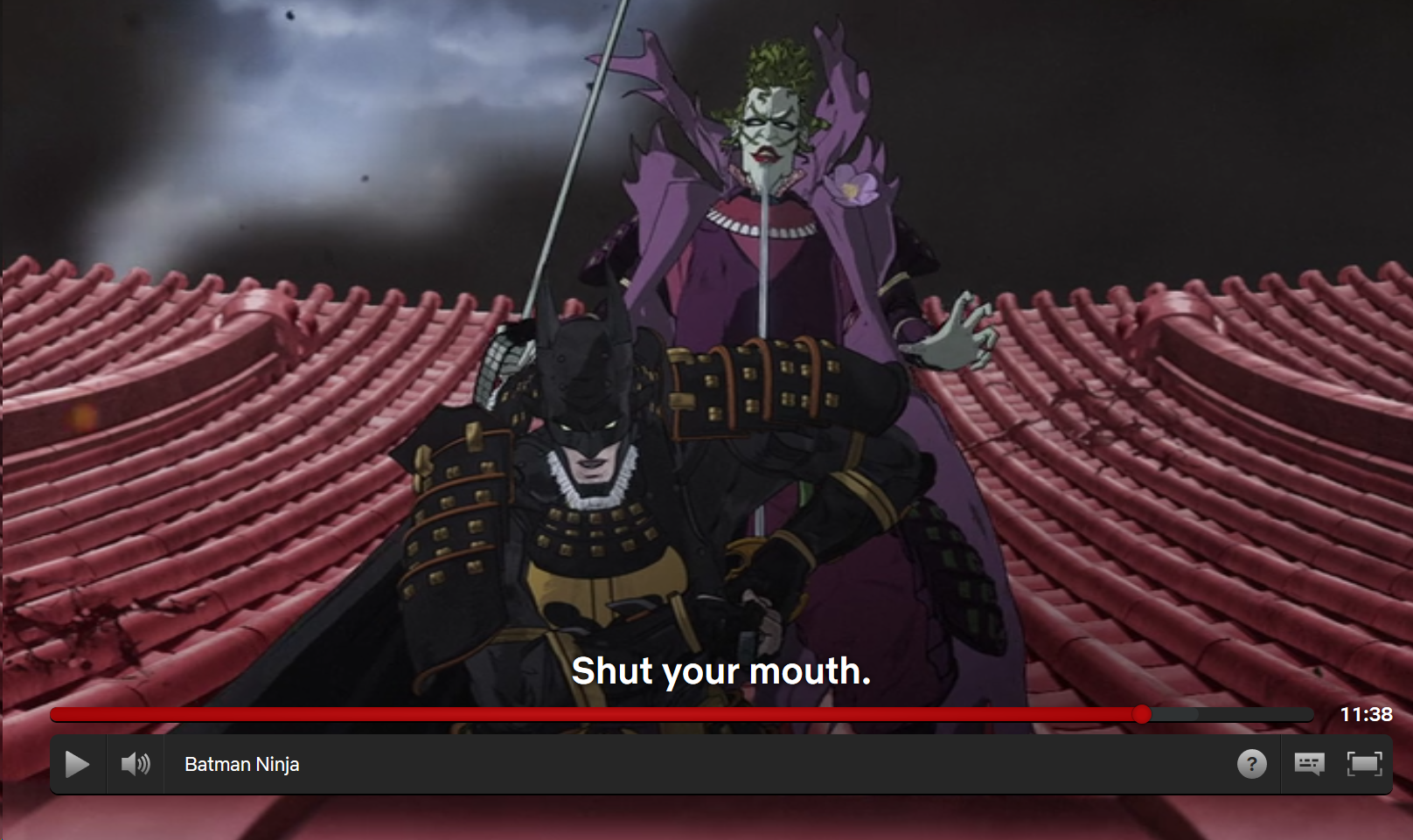 I found out Batman Ninja is on Netflix so I decided to watch. I like the animations, but the story is just plain ridiculous lol