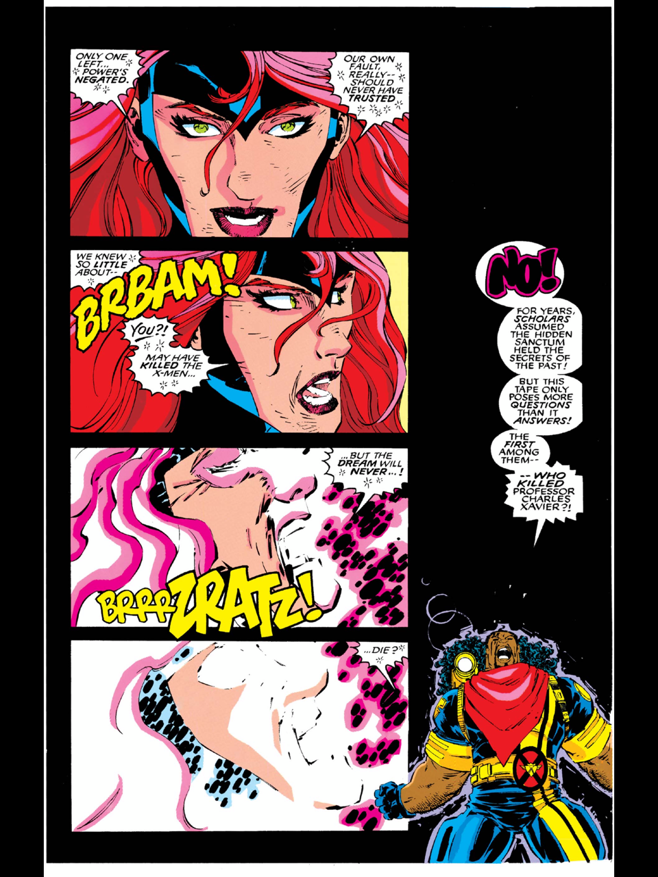 The X-Traitor mystery was introduced in Uncanny X-Men #287 (1992) and was left unresolved until Onslaught: X-Men and Uncanny X-Men #335 (1996)