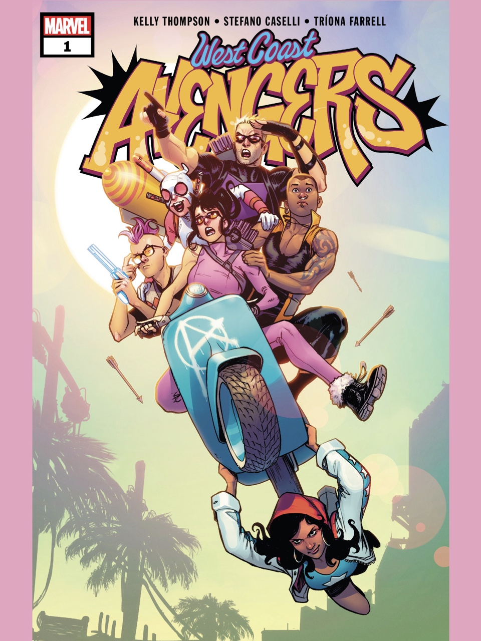 West Coast Avengers (2018) #1 cover by Stefano Caselli and Nolan Woodard