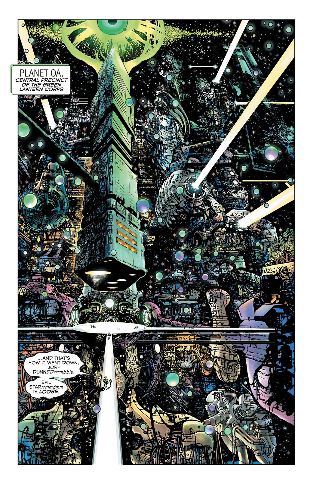 The Green Lantern #2 - OA Splash page. Art by Liam Sharp