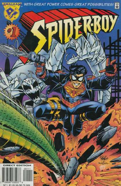 It's Spider-Man week on ireadcomicbooks! During the DC/Marvel Amalgam crossover, Spider-Man got crossed over with… Superboy? I always felt like Spider-Man got a poor deal here given how popular he was, he should have at least gotten an adult to cross over with! At least he retained the hyphen! Cover by Mike Wieringo