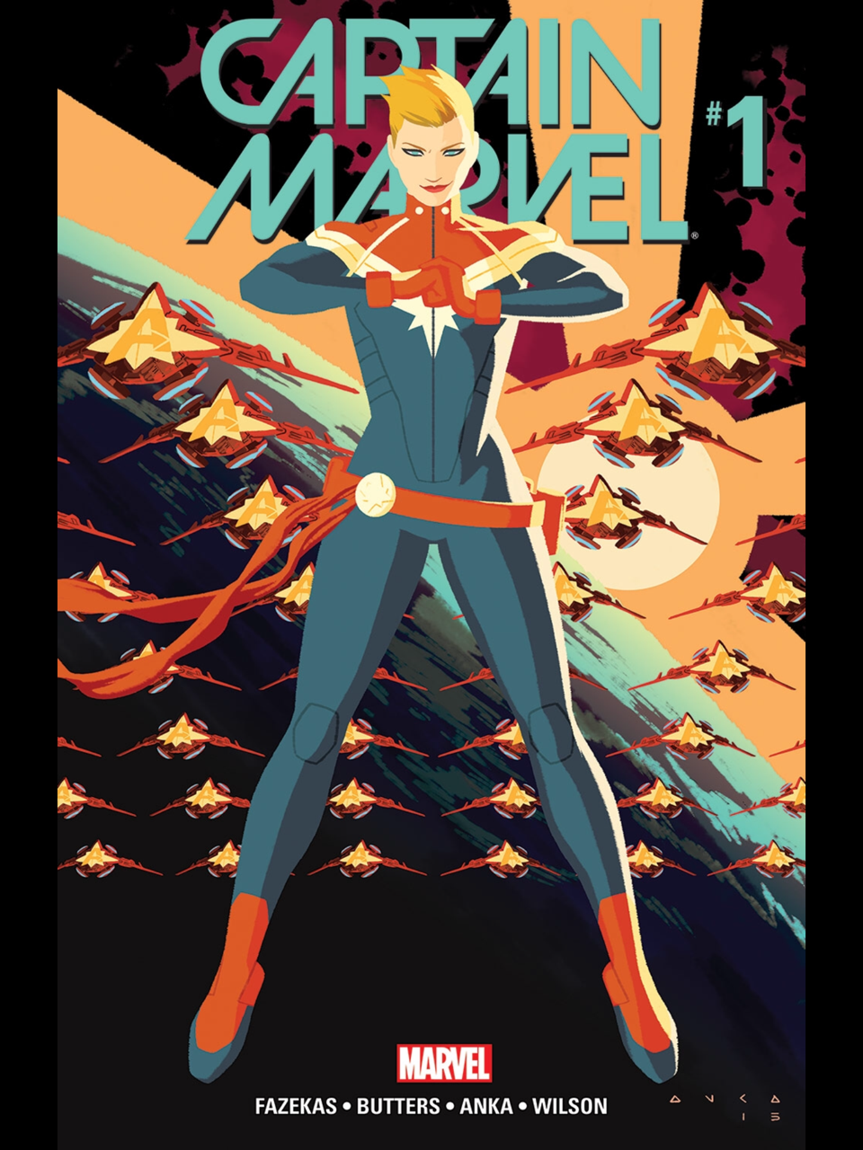 Captain Marvel (2016) #1 cover by Kris Anka