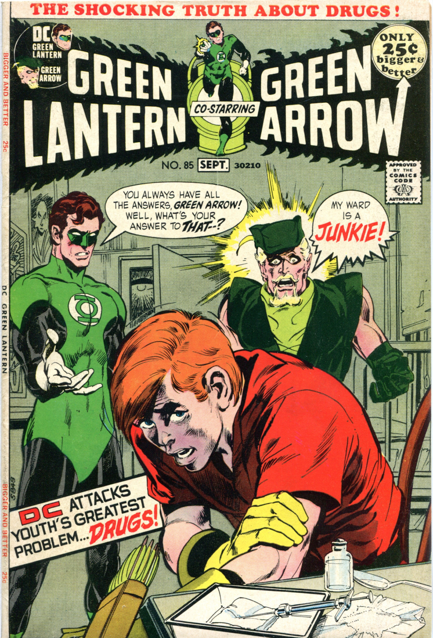 Green Lantern - Green Arrow #85 DC tackles the drug problem
