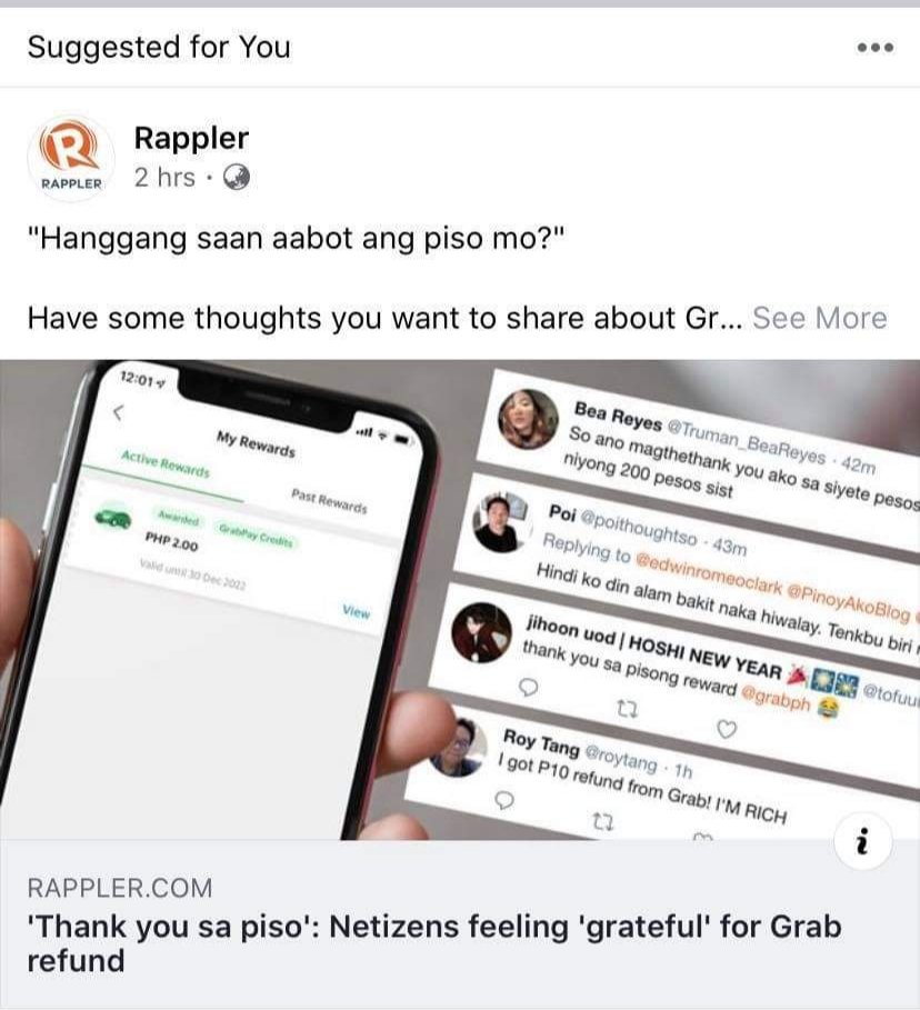 It has always been my dream to be cited in one of those articles where they just collect a bunch of tweets. Thanks grab!