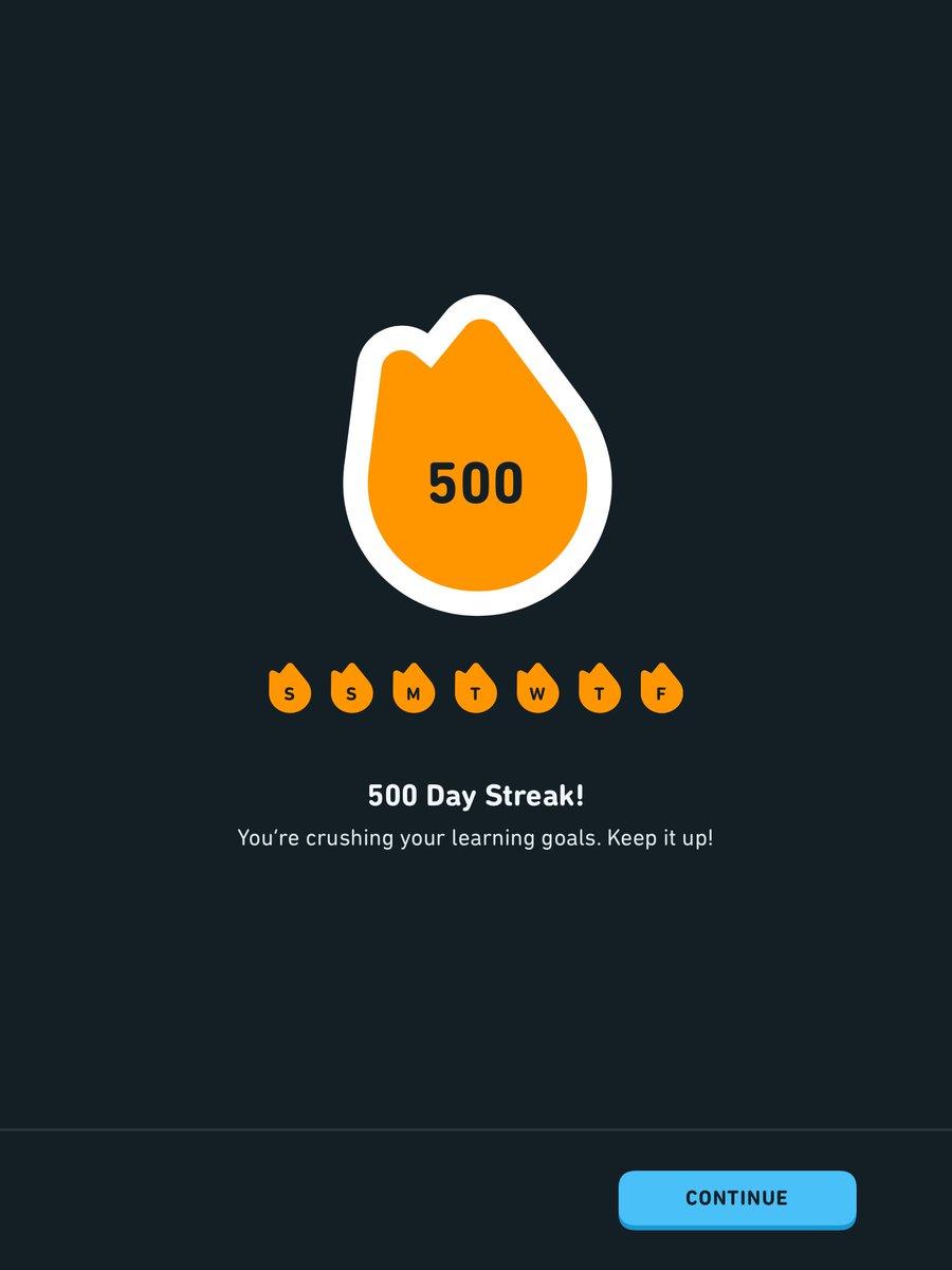 500! #duolingo