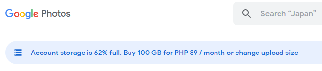 Dear Google, how can unlimited storage be 62% full?