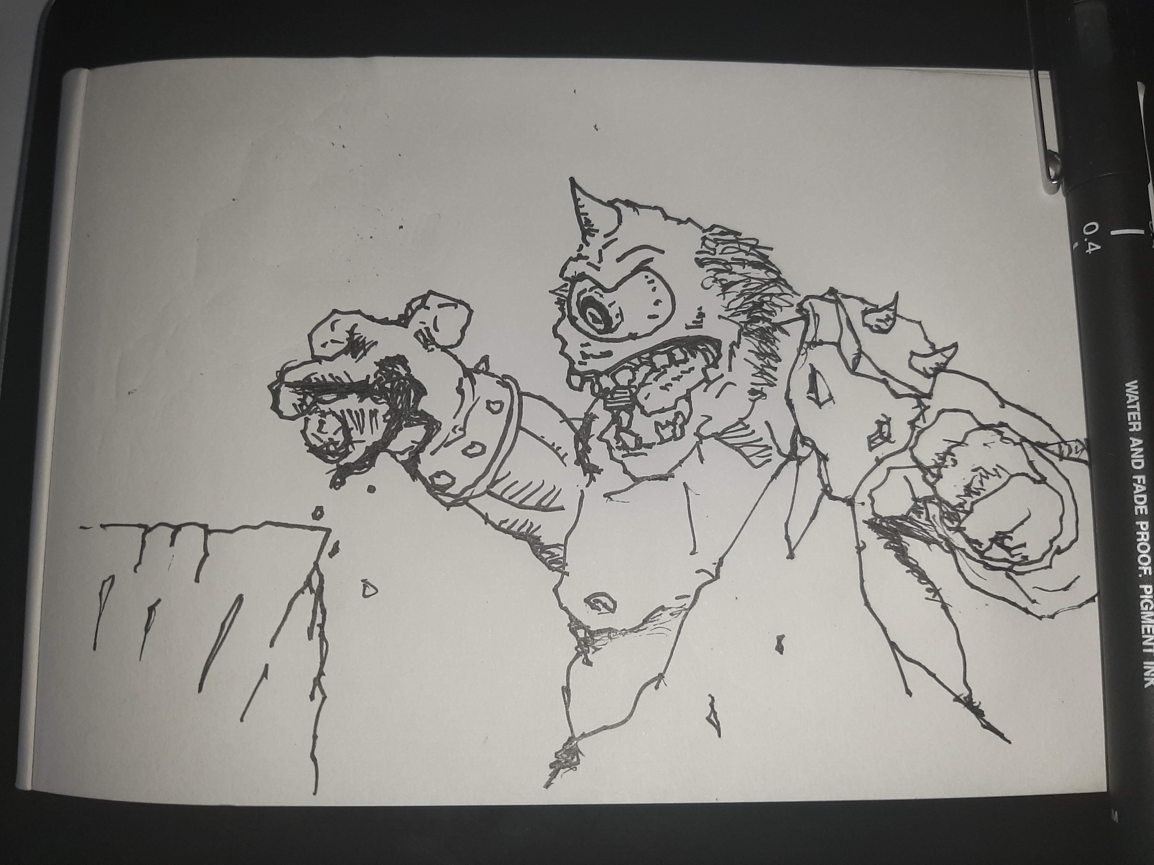 Inktober 2020 day 10: HOPE This... wasn't great. Official prompt list: https://inktober.com/rules