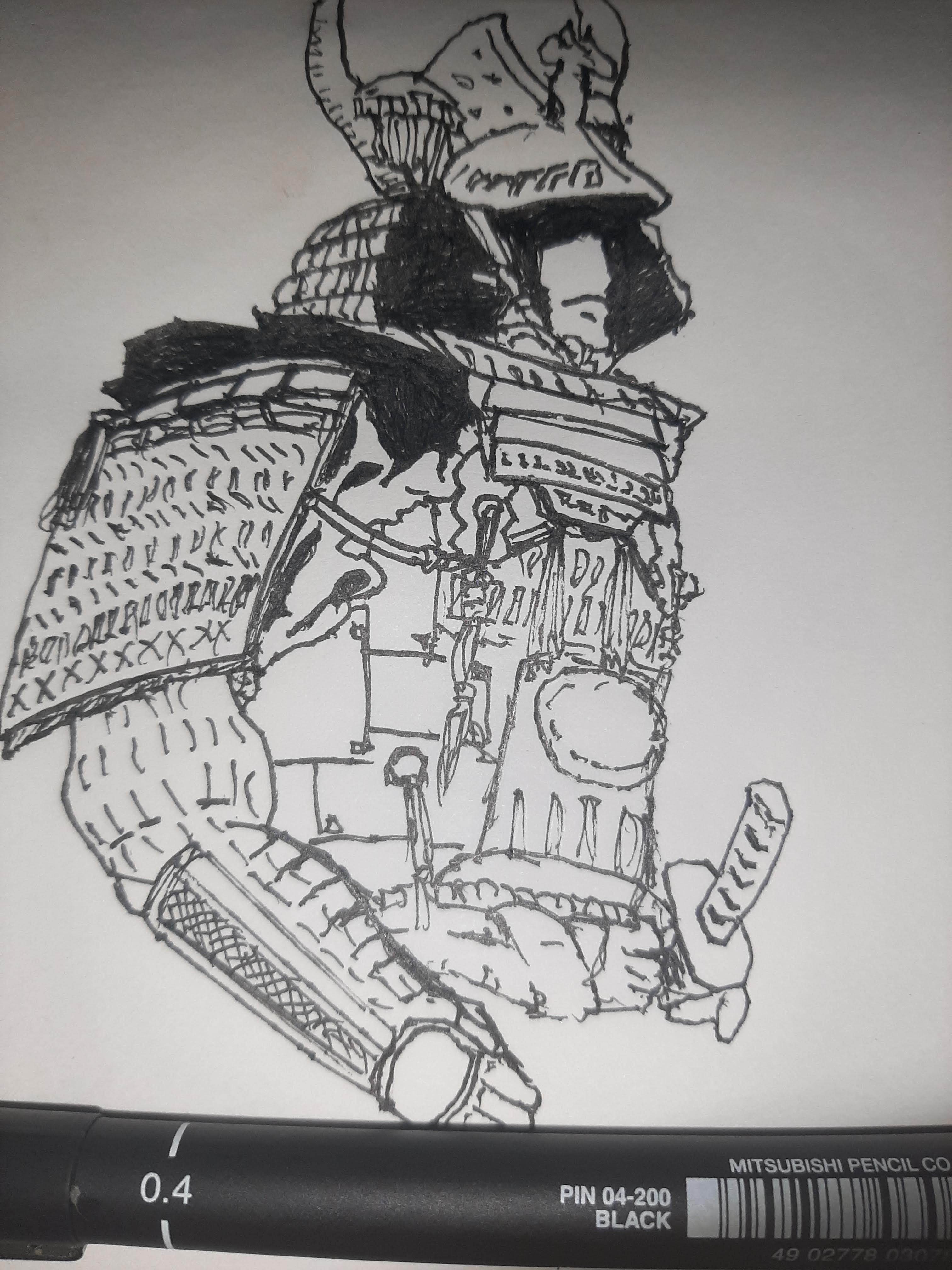 Inktober 2020 day 14: ARMOR This one kind of got away from me. Official prompt list: https://inktober.com/rules