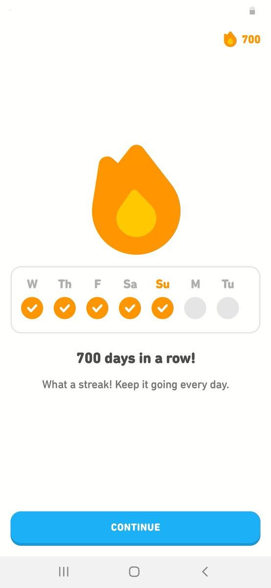 700! #Duolingo