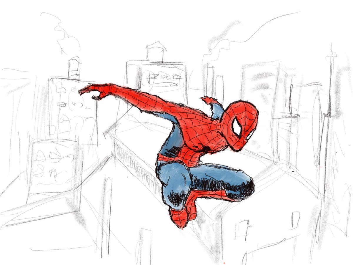 Tryna get back into it #sketchdaily #SpiderMan