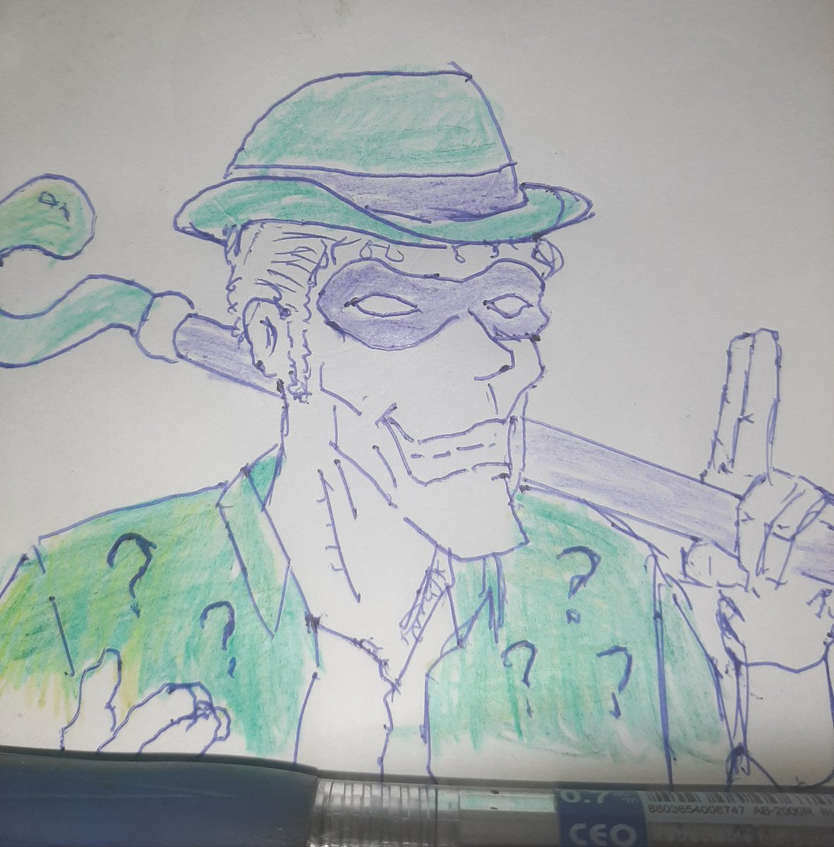 The Riddler? #sketchdaily 36/365