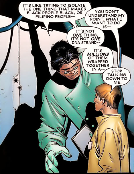 One of the panels from Marvel's House of M (second issue) made me think so... I'm not sure whether that's a good thing or a bad thing.Context: Mutant scientist Hank McCoy and human scientist Henry Pym were discussing the moral issuess surrounding Henry's isolation of the mutant gene.