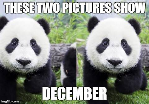 """It's December the 1st, there's this image I often share on this day: It's a really stupid pun that I won't explain (but it maybe only works in a Filipino accent.) I love puns! The best puns are so terrible and so great at the same time. Puns are like a tiny puzzle that your brain has to solve and when you do solve them, your brain has that tiny flash of """"A-ha!"""" and it feels great, but then you realize how contrived the pun was and groan internally at how terrible it was. This is why the best puns"""