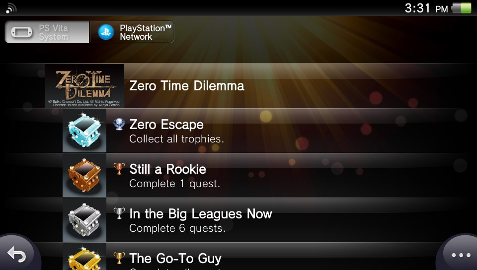 With the PS Vita recently being discontinued by Sony, I decided to work on reducing my Vita backlog a bit. One of the games I'd been meaning to play for a while now was Zero Time Dilemma, the third game in the Nonary Games trilogy. I've only previously played the 2nd game in the series, Virtue's Last Reward, which is a bit appropriate given how the events in these games often unfold nonlinearly. ZTD is pretty good, but the story is understandably complex, given how it builds off a series of games that already involved espers and time travel and