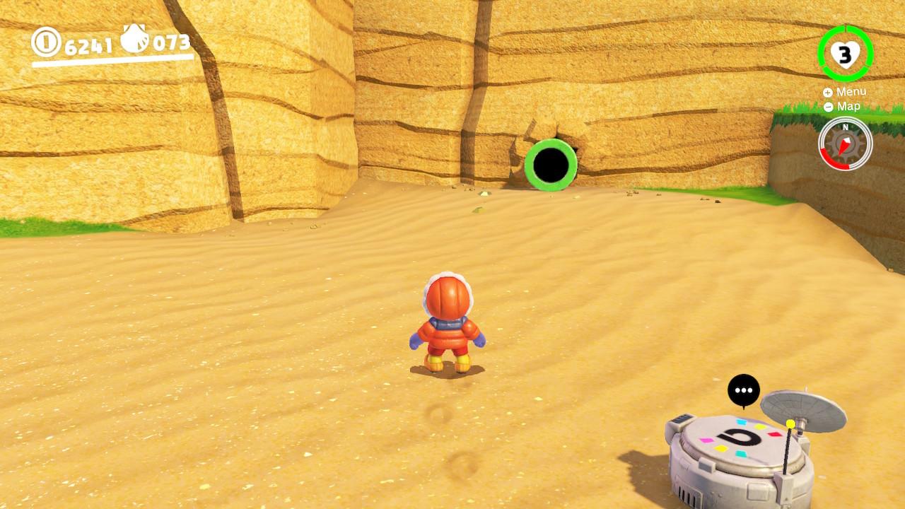 Mario wearing a parka at the beach